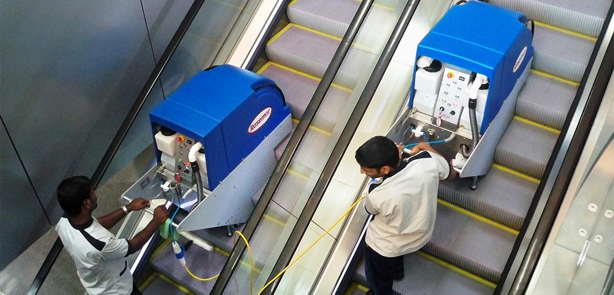 Copertina Rosemor pulizia scale mobili